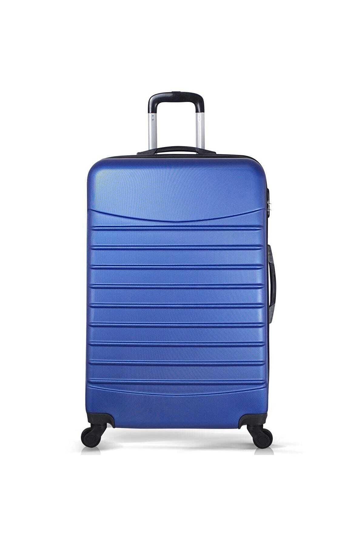 Troya Bags Mavi Unisex Büyük Boy Valiz TR1691