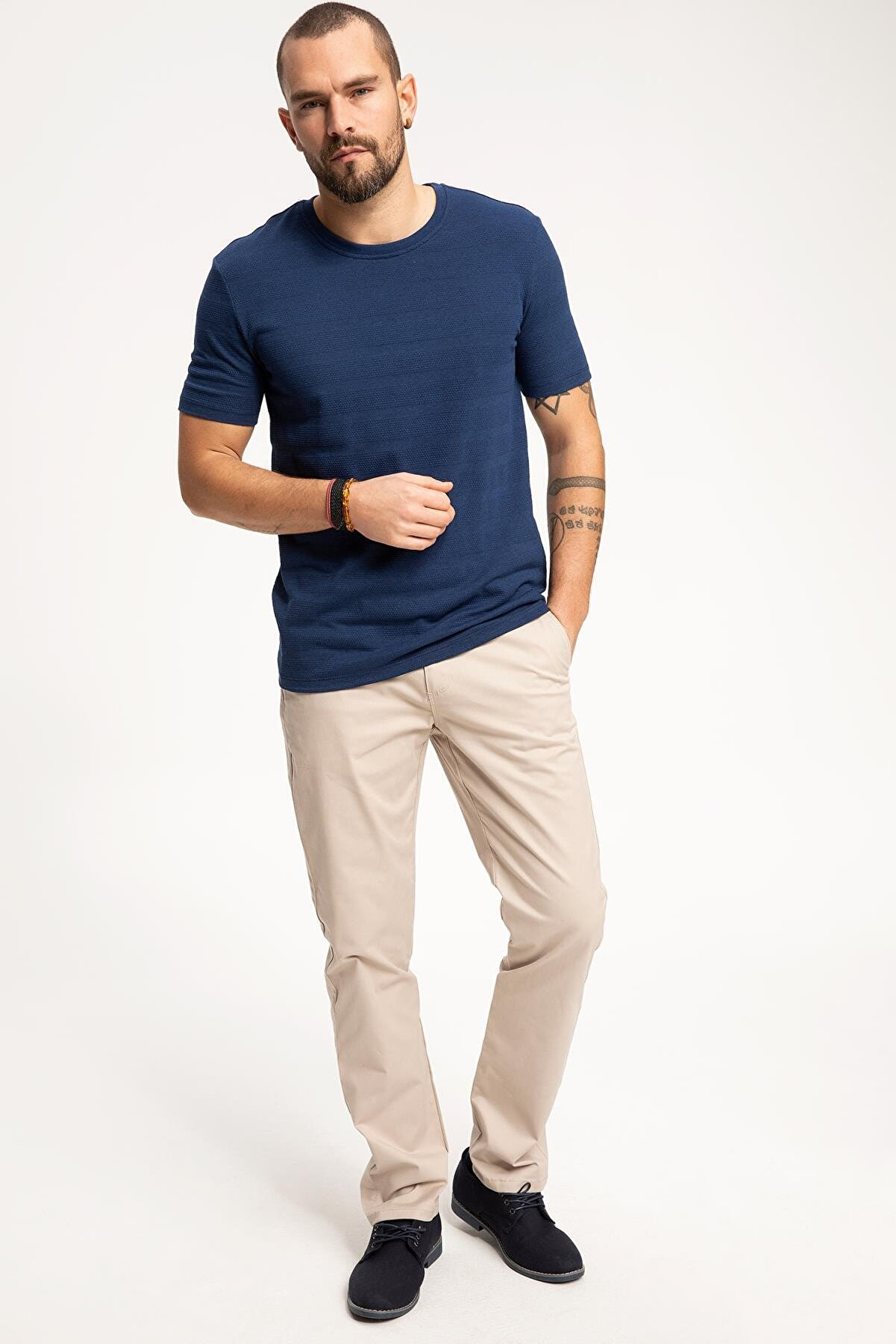 Defacto Erkek Bej Paco Casual Regular Fit Chino Pantolon J9853AZ.19SP.BG191