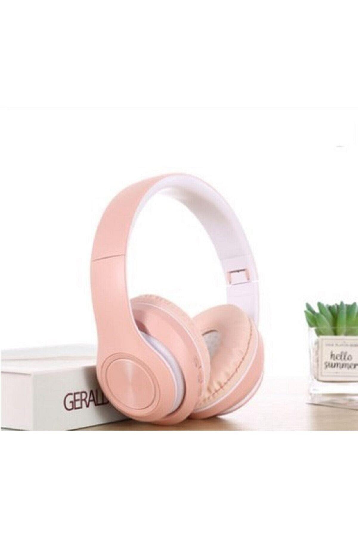 Hooptech Pembe Macaron Set Bluetooth Kablosuz Stereo Kulaklık