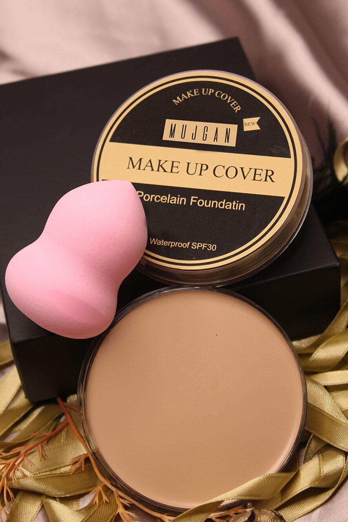 MUJGAN Makeup Cover Kapatıcı 209 (BEYAZ TEN) Tekli Armut Sünger