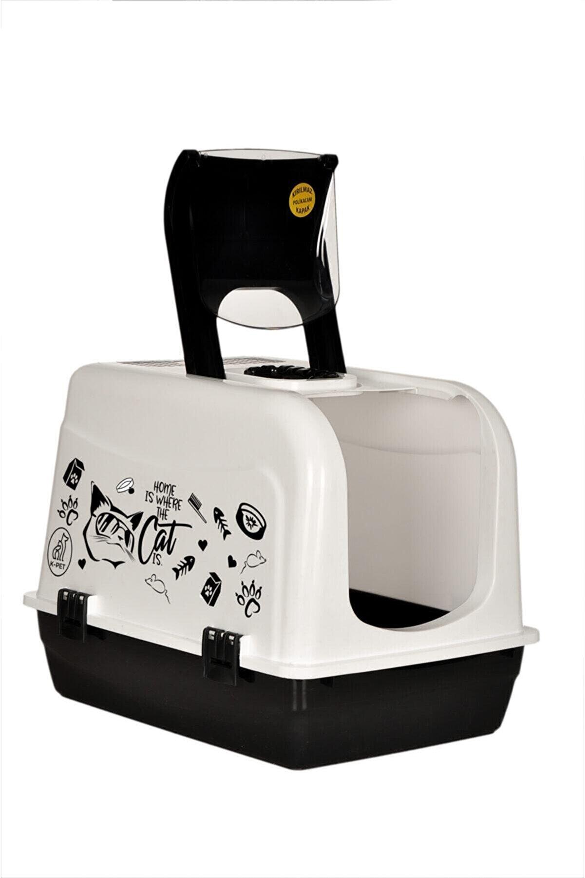 HIZARCI TREND Xxl Büyük Boy Kapalı Kedi Tuvaleti ve Kürek