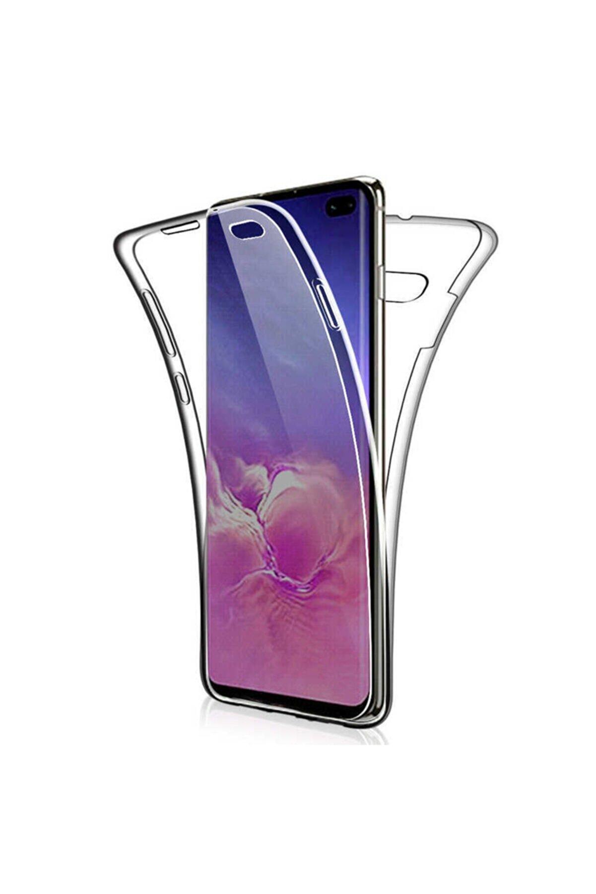 Samsung Galaxy S10e Uyumlu Kılıf 360 Derece Tam Koruma Şeffaf Yumuşak Silikon