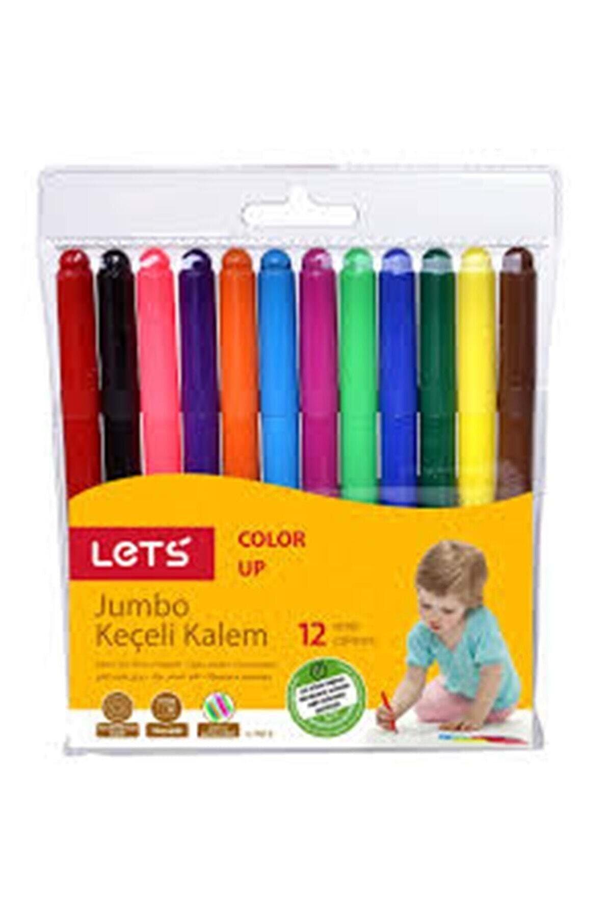 Lets Jumbo Keçeli Kalem L-7012 12 Renk