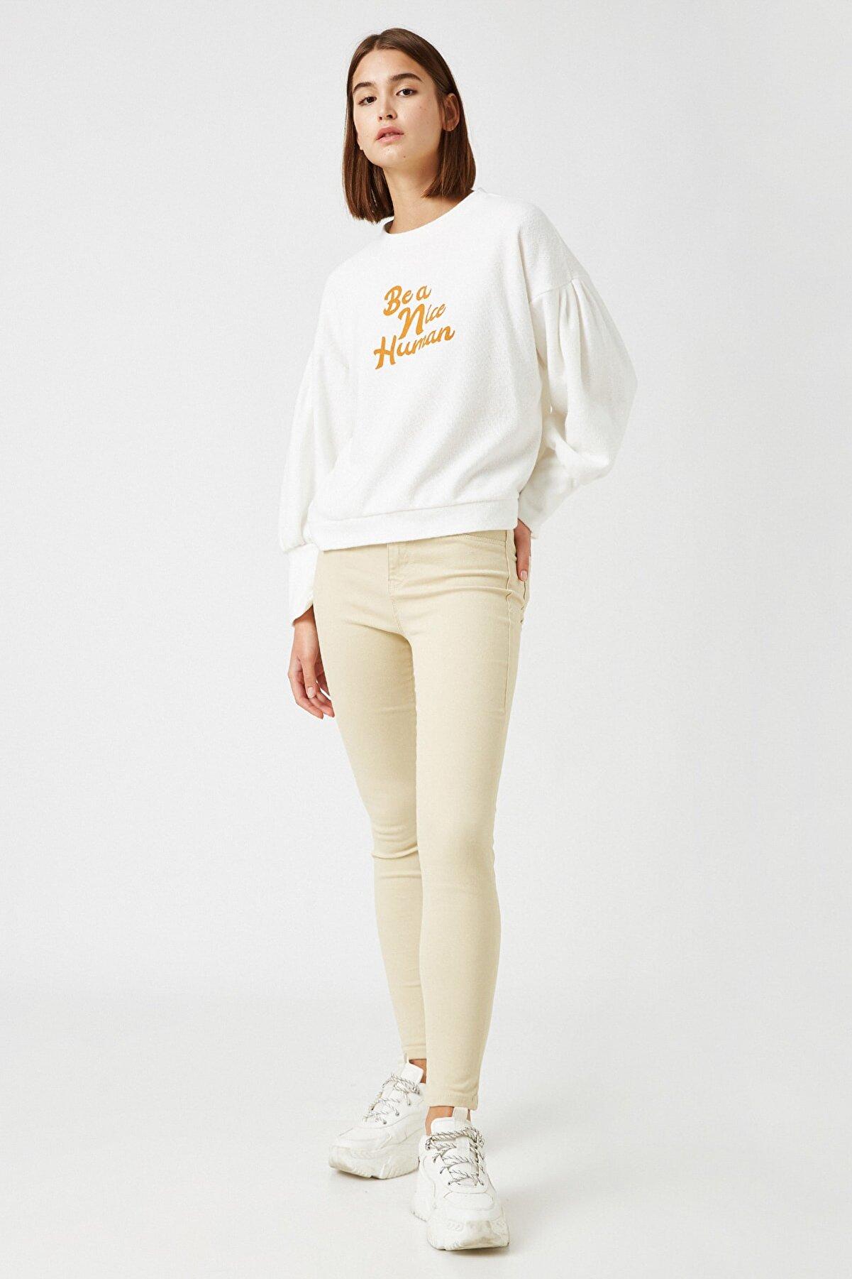 Koton Kadın Deve Tüyü  Jeans 1KAL41115MW