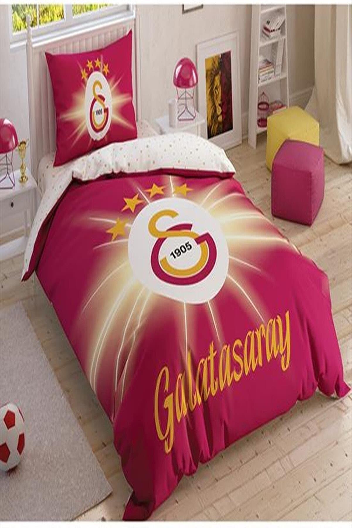 Taç Tek Kişilik Galatasaray Nevresim Takımı Light Glow