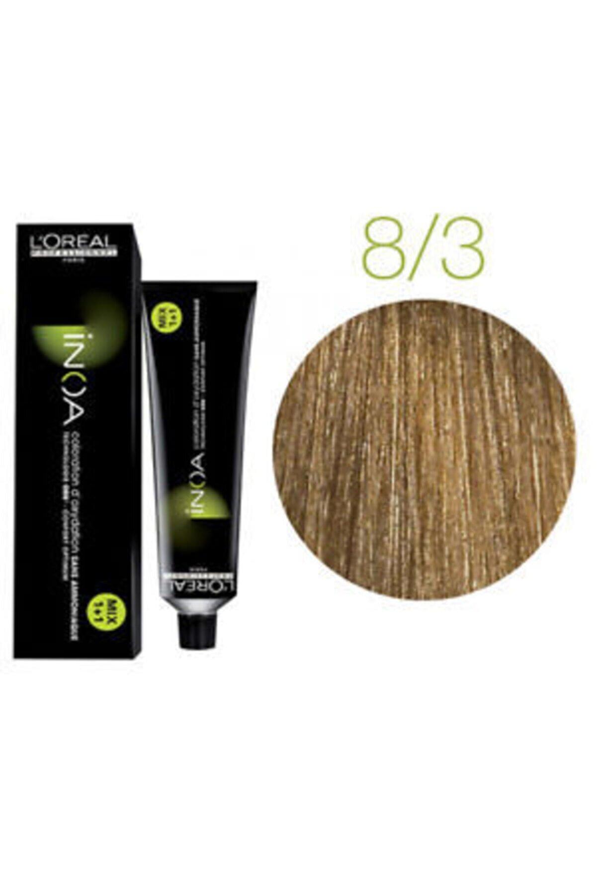 İNOA Koyu Sarı Dore Saç Boyası 8,3 3474630416543