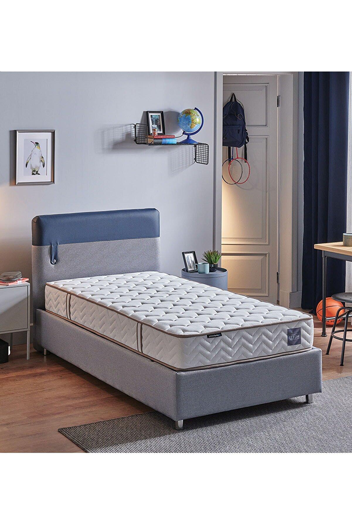 Yataş Loris Sandıklı Yatak Baza Başlık Genç Seti - Multi Yatak - Tek Kişilik - Mavi - Lacivert