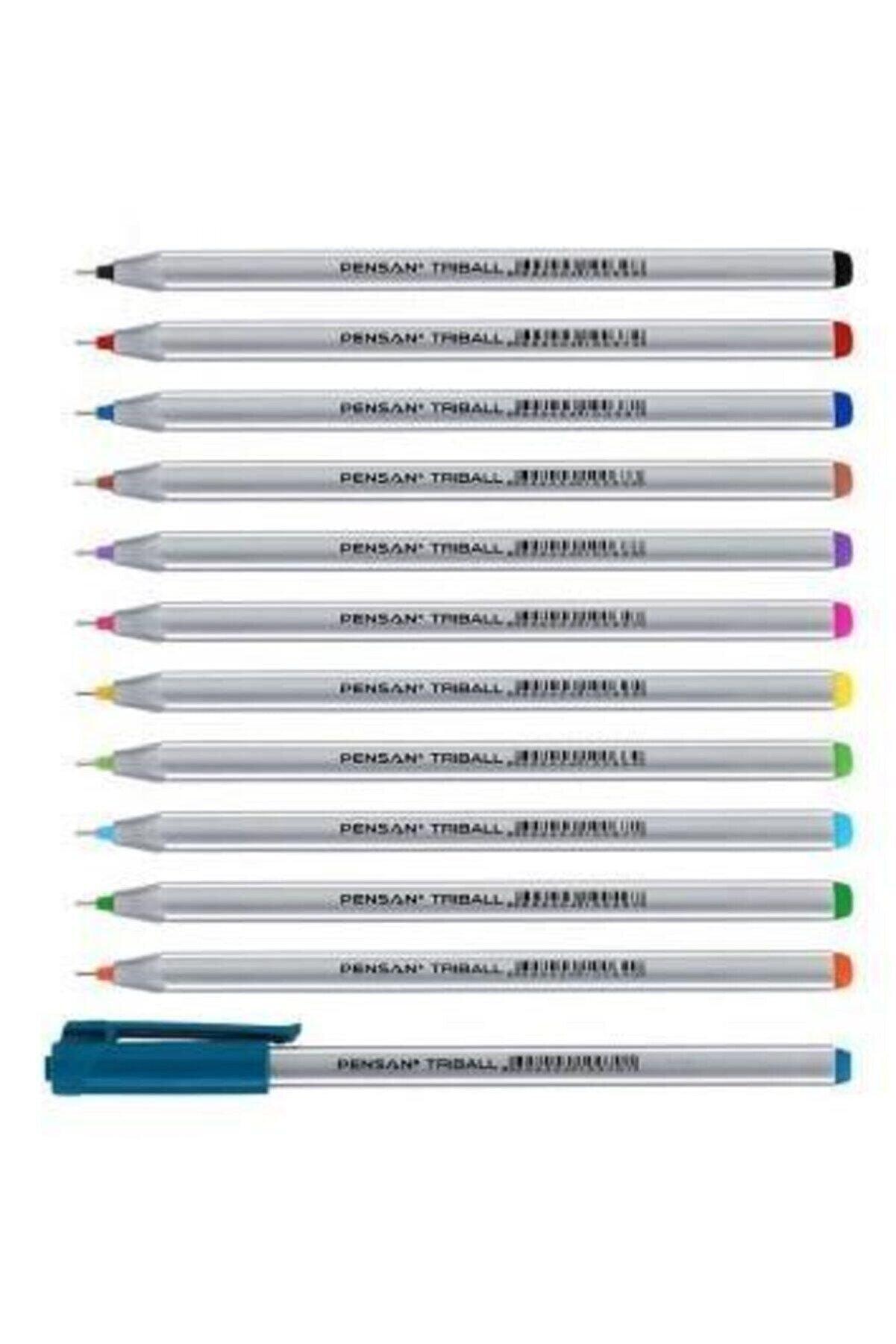 Pensan Triball 12 Renk Karışık Set( Stok Durumuna Göre Renk Seçenekli)