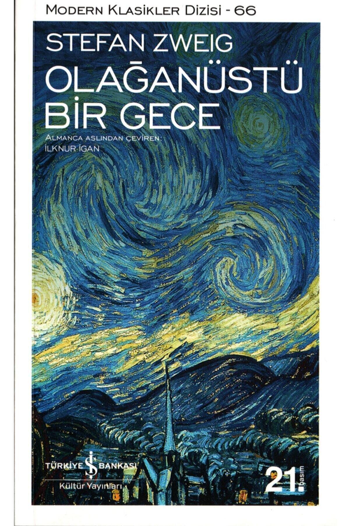 İş Bankası Kültür Yayınları Olağanüstü Bir Gece  Stefan Zweig