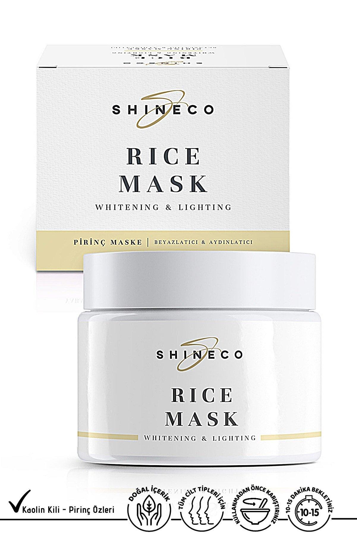 Shineco Pirinç Maske 50 Ml - Beyazlatıcı Etki