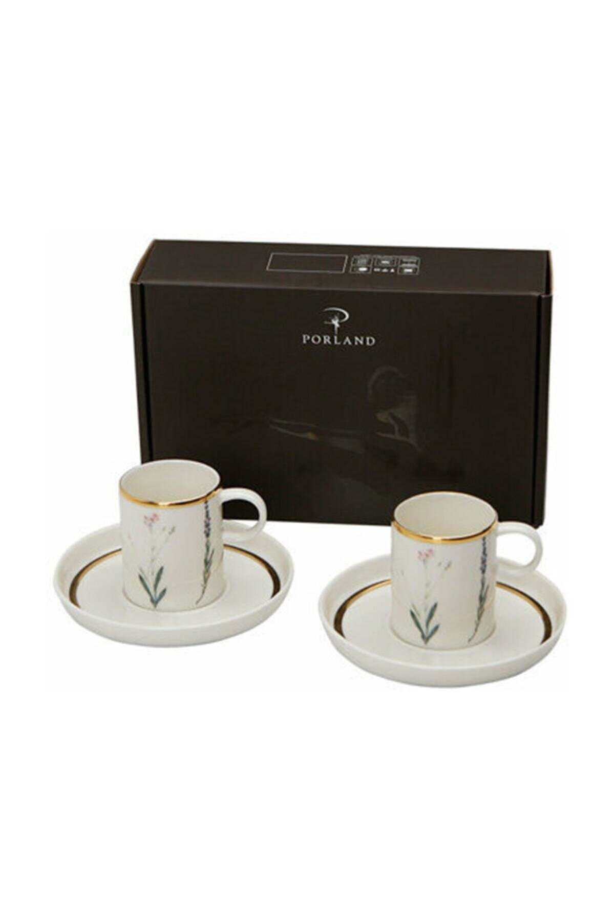 Porland Botanical Desen Kahve Takımı