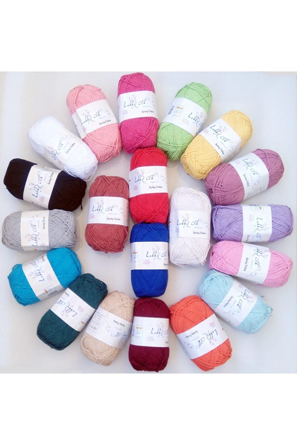 Kezban Tekstil %100 Pamuk Punch (PANÇ) Ve Amigurumi Ipi Seti 20 Adet