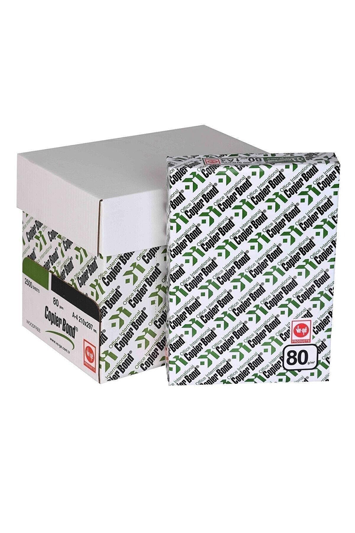 Copierbond Copier Bond A4 Fotokopi Kağıdı 80g 5 Li Paket Her Pakette 500 Adet (KOLİ)