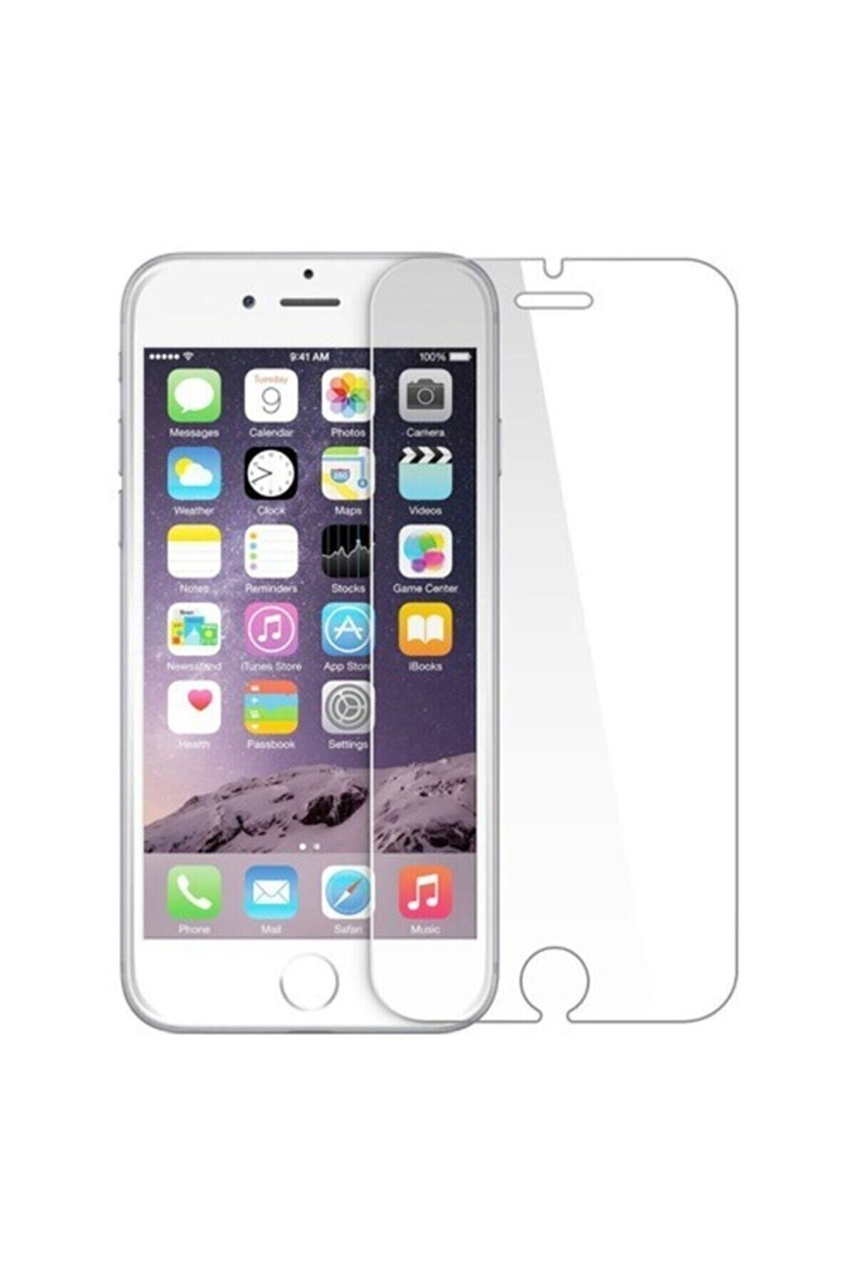 TrendTech Iphone 7 Plus 8 Plus Uyumlu 9h Sert Temperli Kırılmaz Cam Şeffaf Ekran Koruyucu