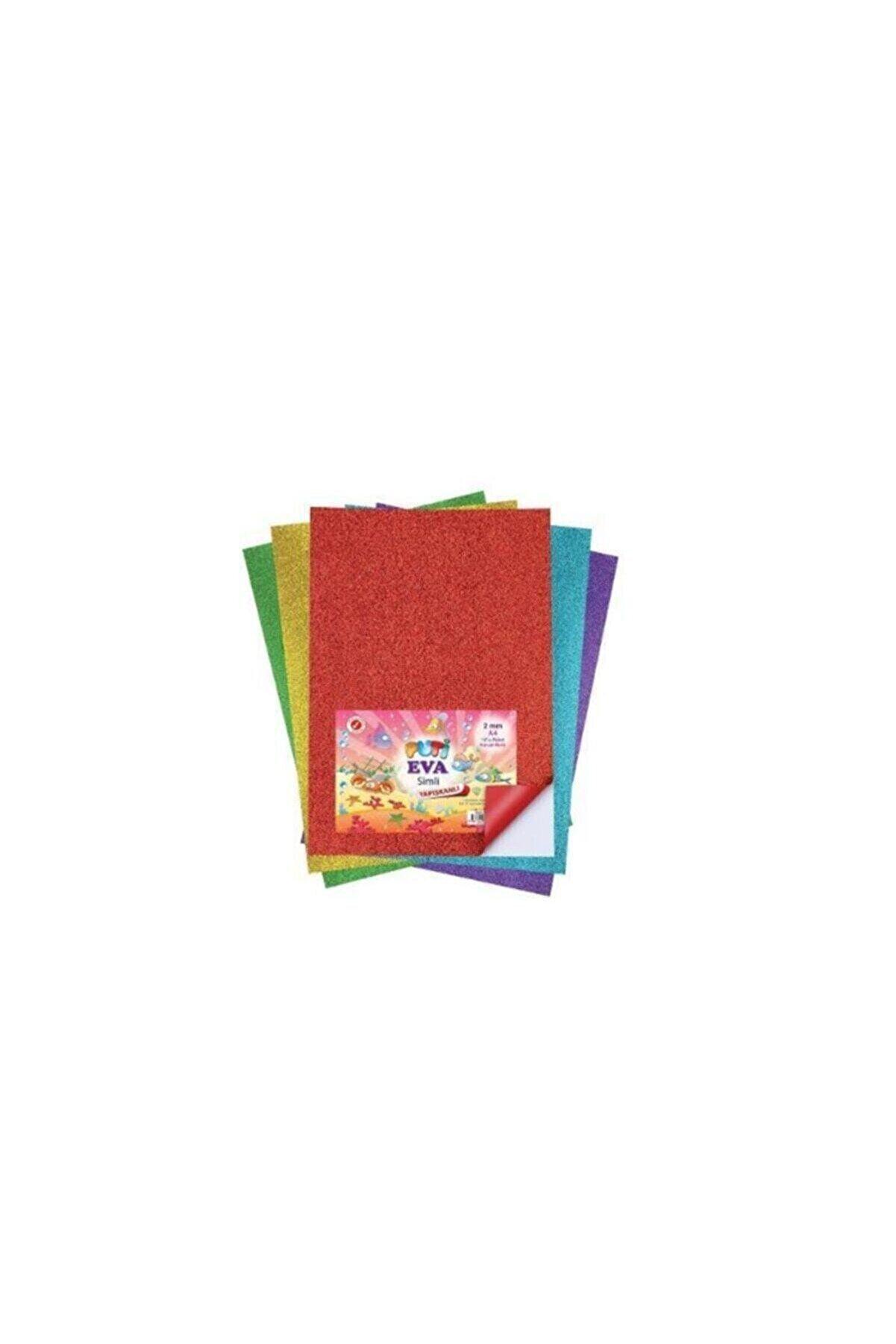 Puti Eva Simli Yapışkanlı A4 10 Lu Karışık Renk