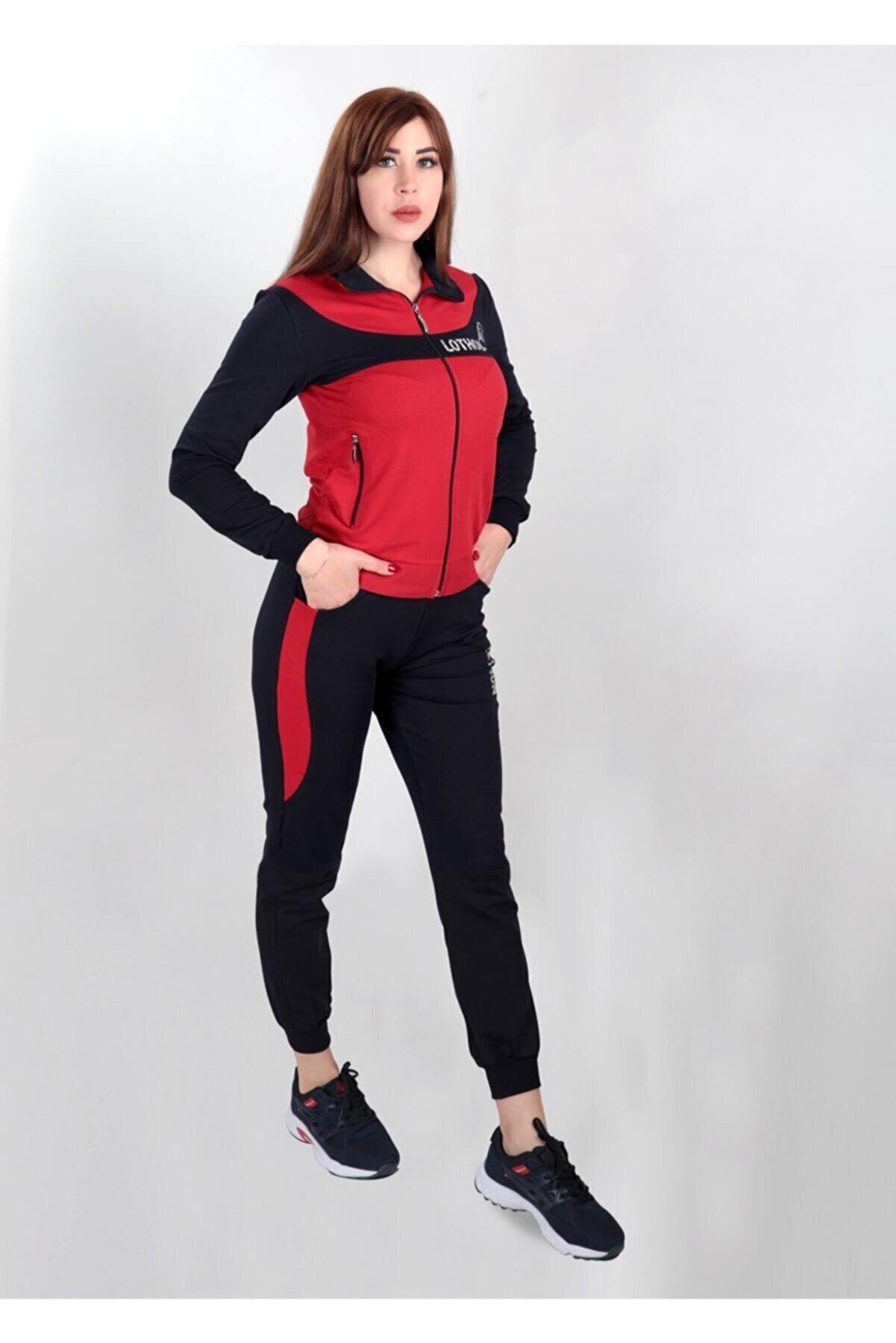 LOTHON Kadın Kırmızı Eşofman Takımı