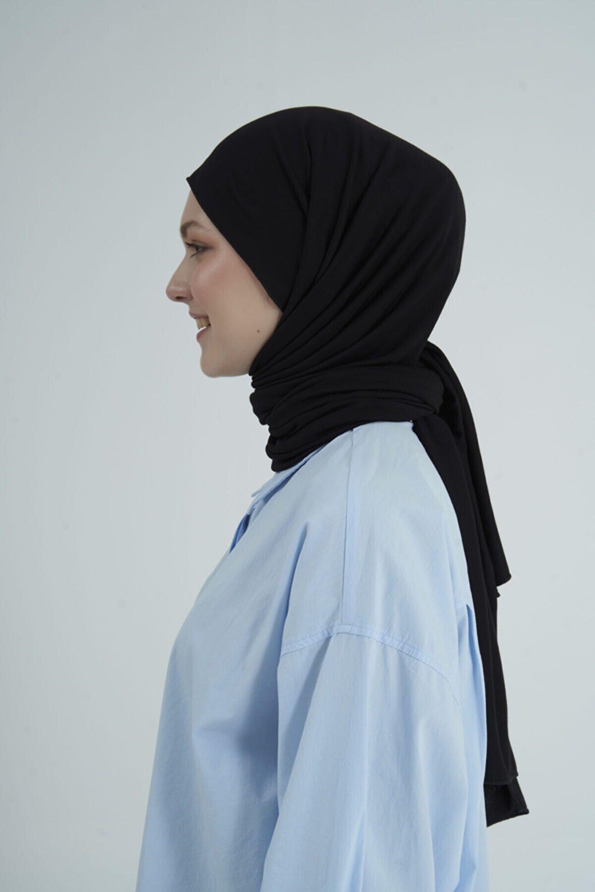 Gülsoy Kadın Penye Şal Siyah - 01