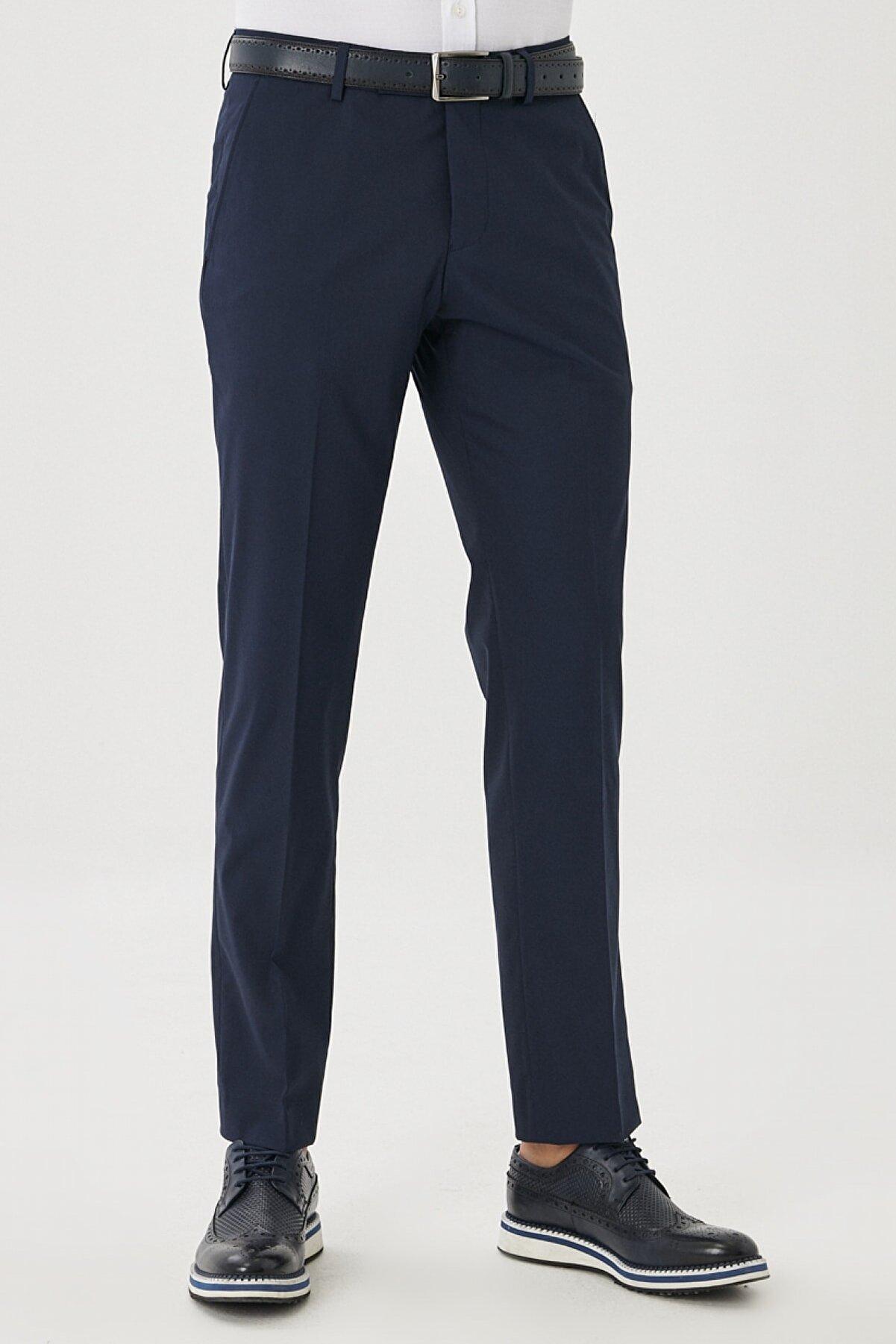 Altınyıldız Classics Erkek Lacivert Regular Fit Klasik Pantolon