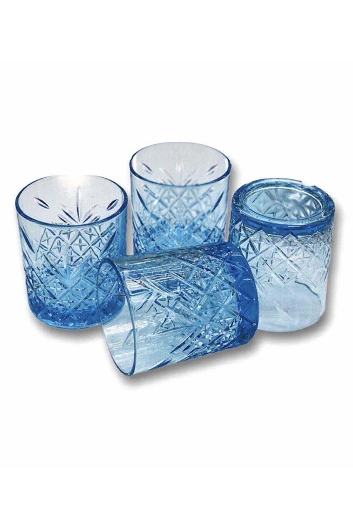 Paşabahçe Timeless 4'lü Mavi Meşrubat Bardağı 345 Cc - 52790
