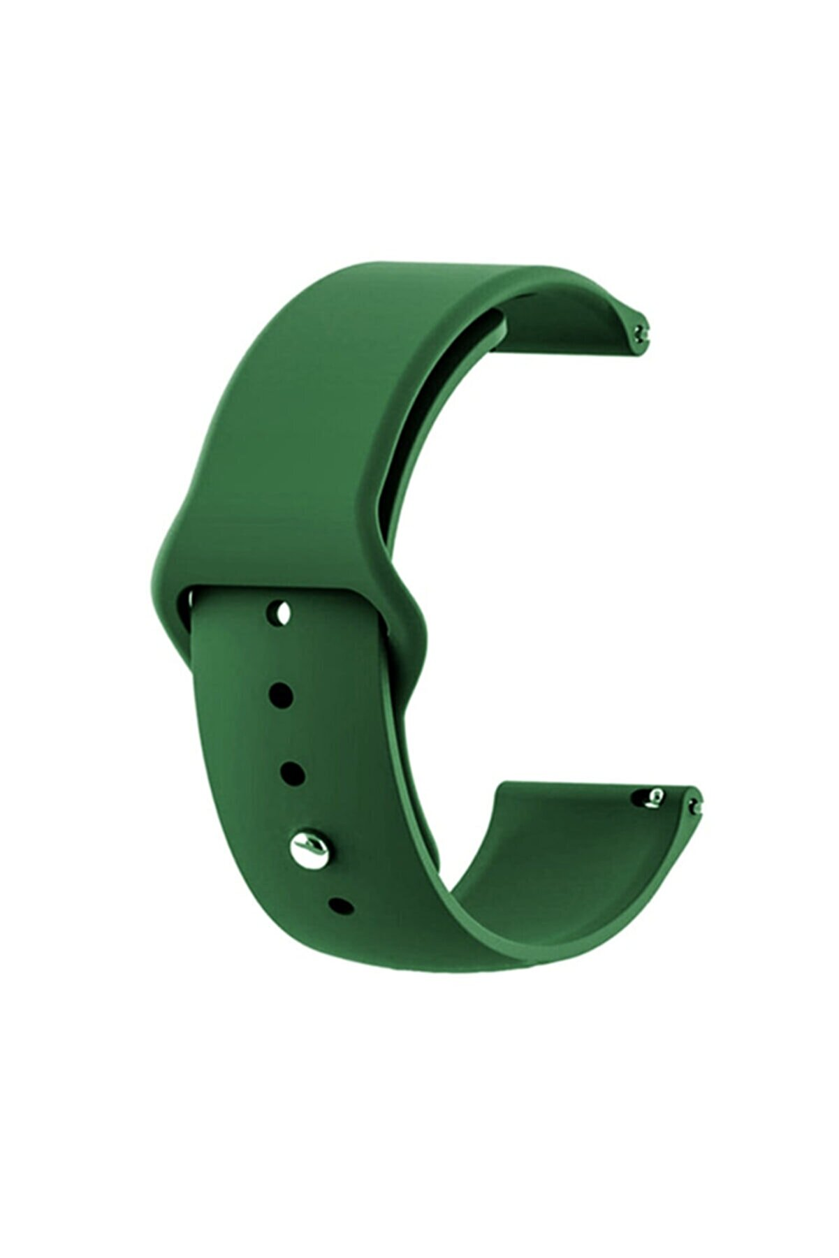 Gpack Google Ticwatch S2 Wear Os Uyumlu Kordon Klasik Silikon Krd 11 Koyu Yeşil