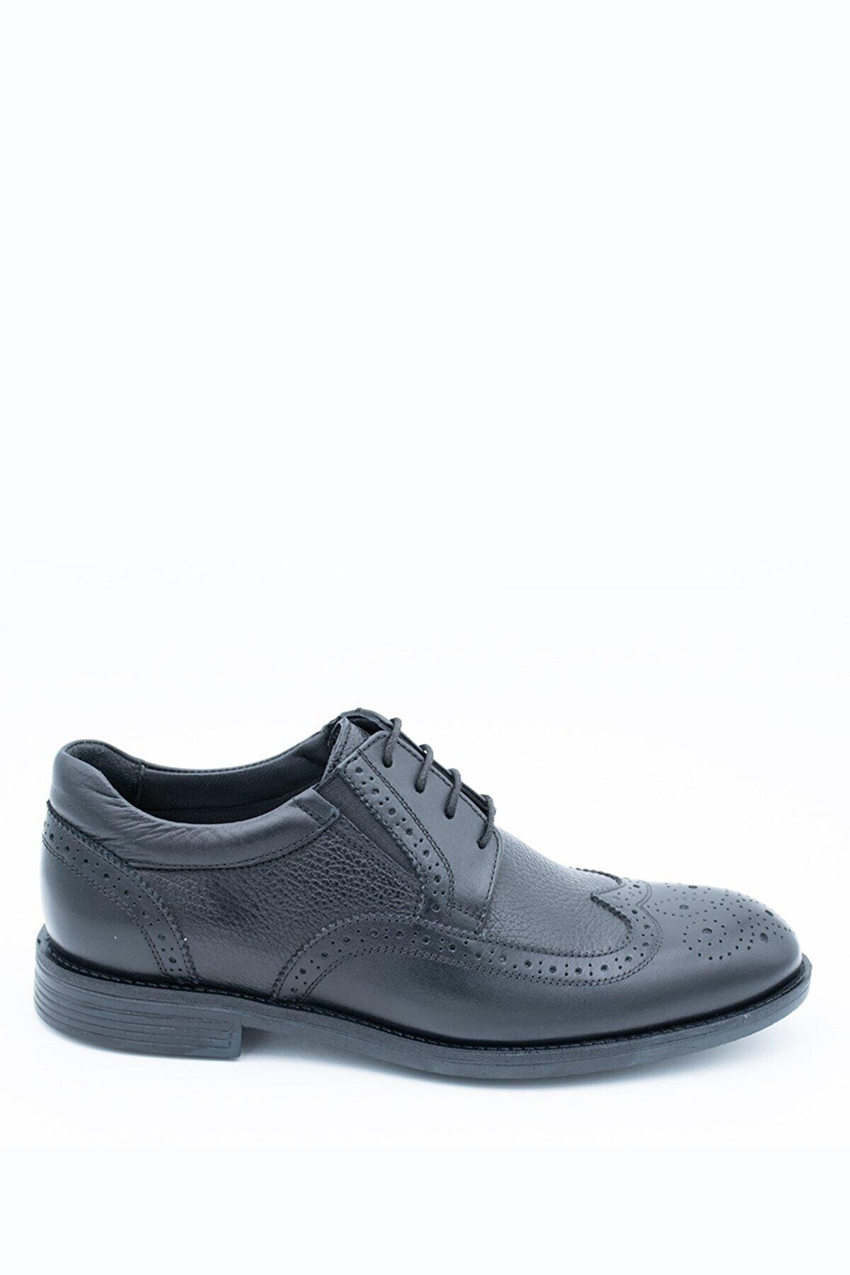 İgs Erkek Siyah Deri Günlük Ayakkabı I197057-1 M 1000