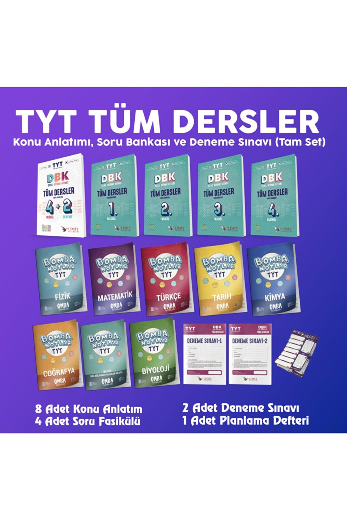 Limit Yayınları Limit Tyt Tüm Dersler Seti (OMBA-LİMİT)