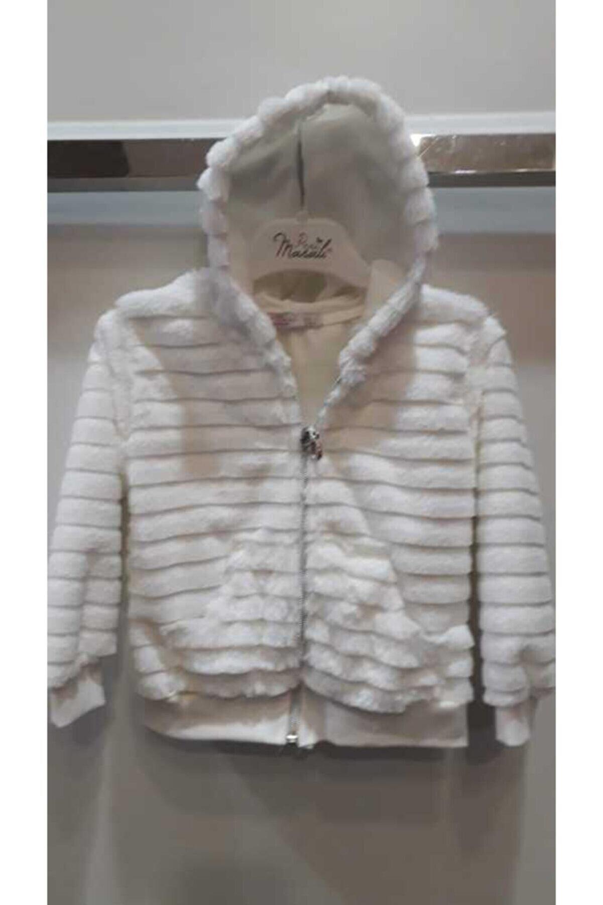 Bella Kadın Beyaz Kürk Ceket