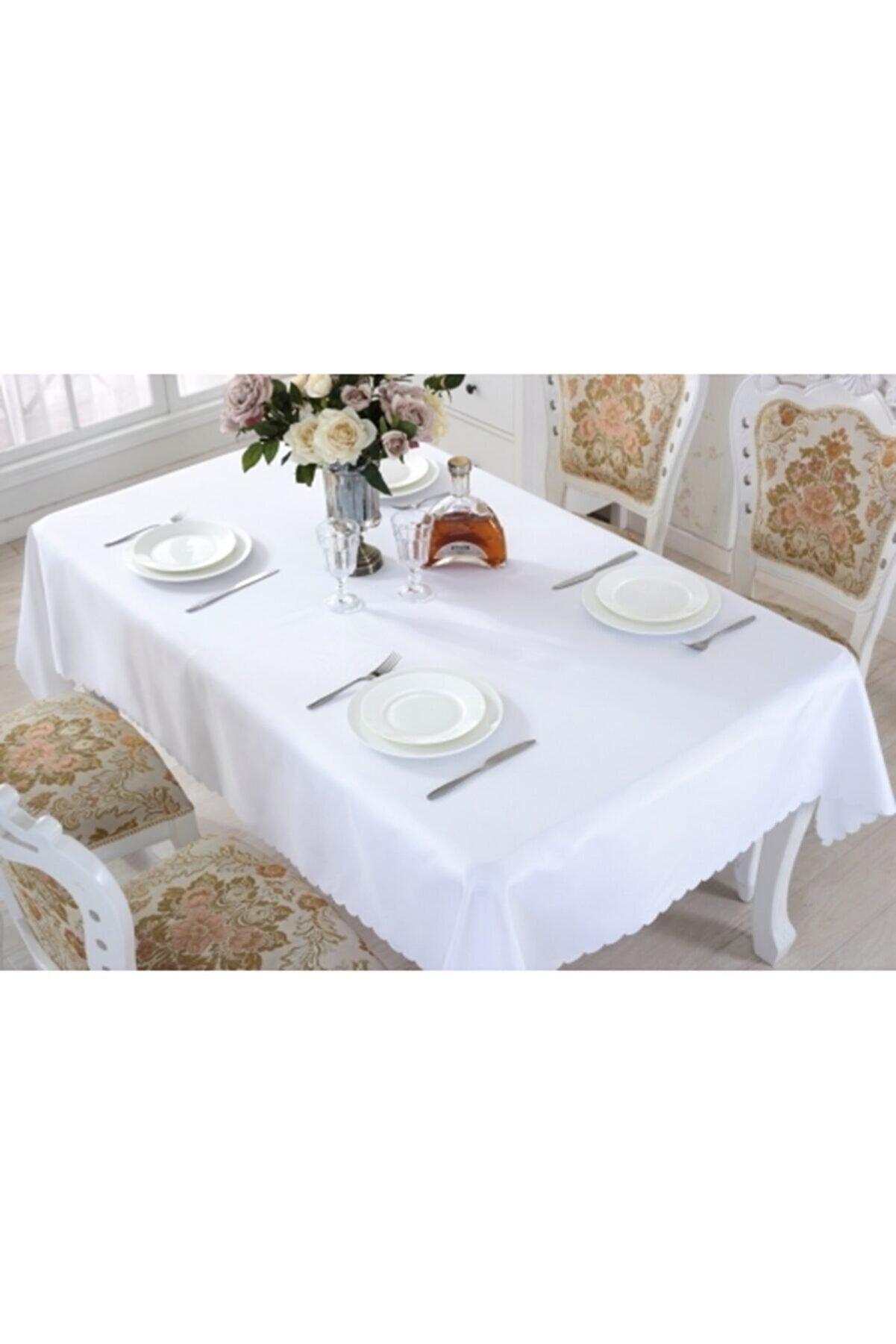BRILLEX Beyaz Dertsiz Masa Örtüsü