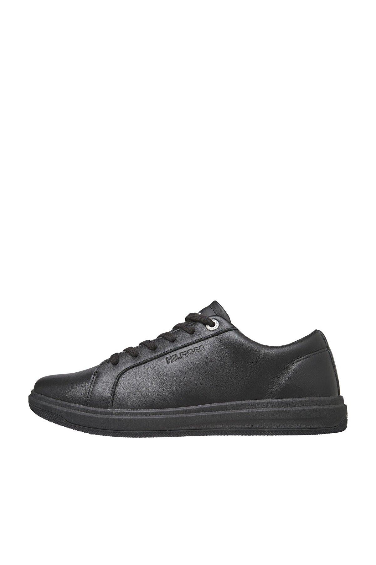 Tommy Hilfiger Erkek Siyah Sneaker Modern Clean  Deri Cupsole FM0FM02992