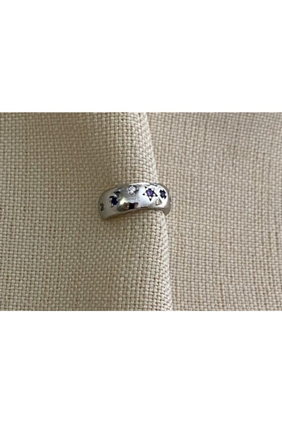 Markiz Takı Renkli Zirkon Taş Gümüş Kıkırdak