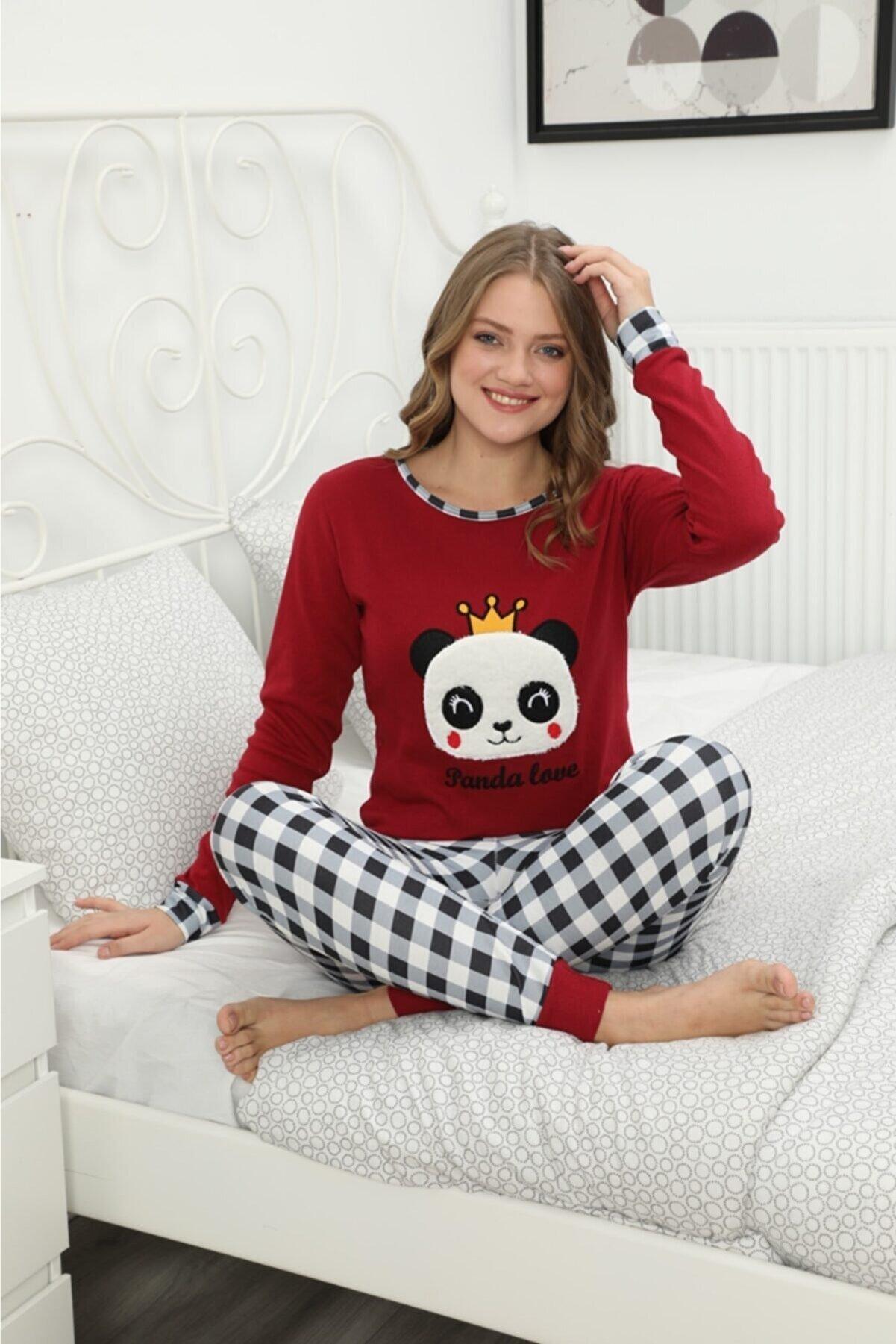 POLKAN Kadın Kırmızı Pijama Takımı