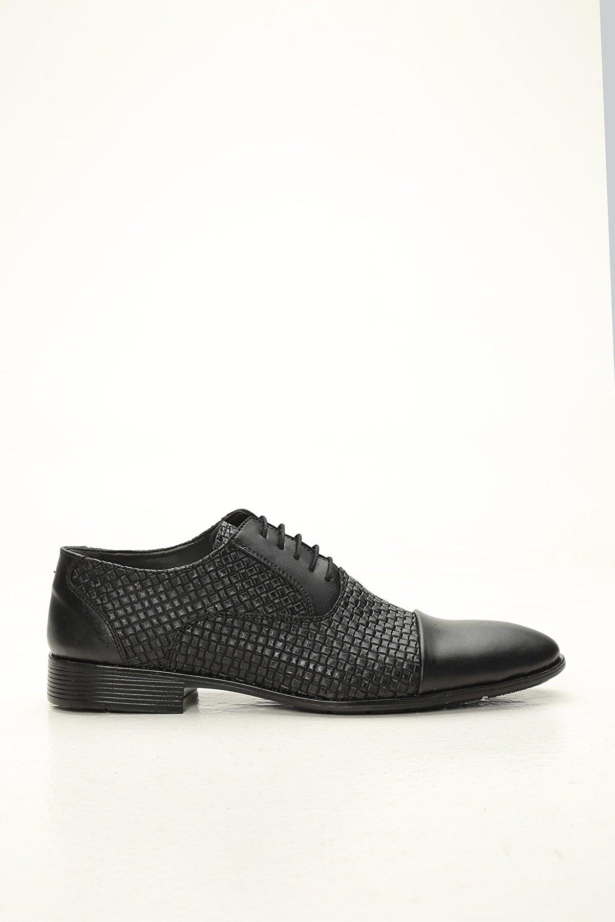 Ayakkabı Modası Erkek Siyah Deri Klasik Ayakkabı
