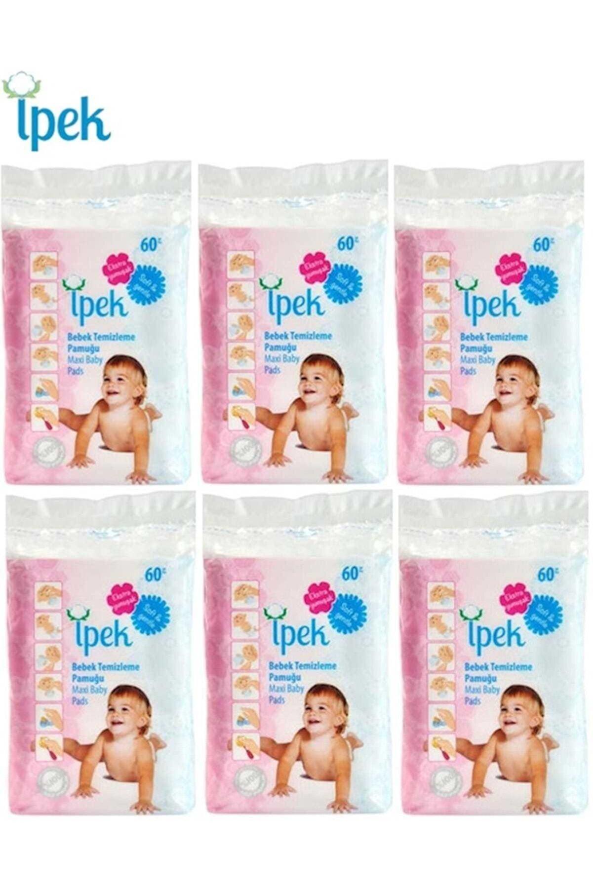 İpek Bebek Temizleme Pamuğu 360 Adet (6pk*60)