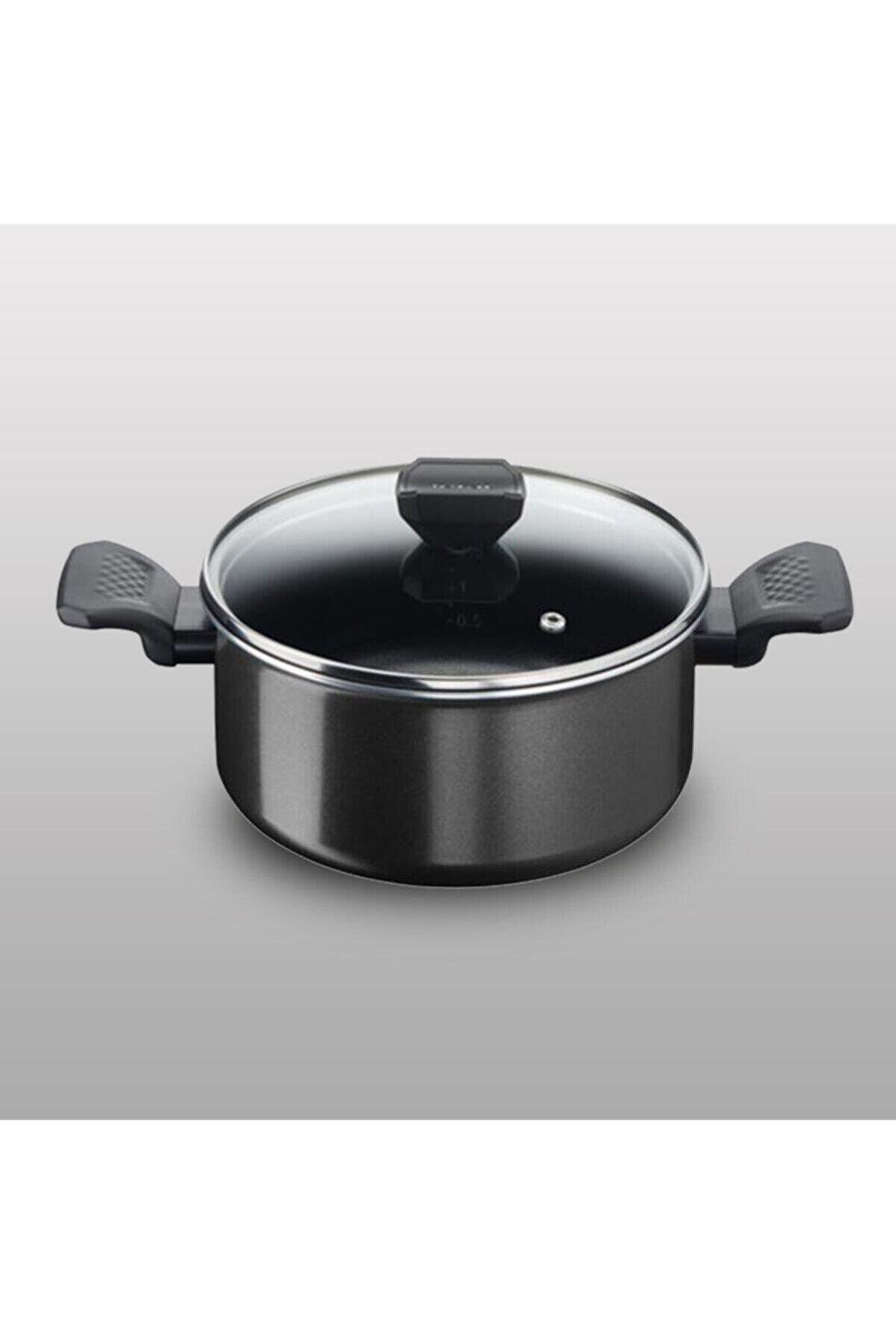 TEFAL Titanyum 1x Extra Cook&clean Difüzyon Tabanlı Derin Tencere - 24 Cm