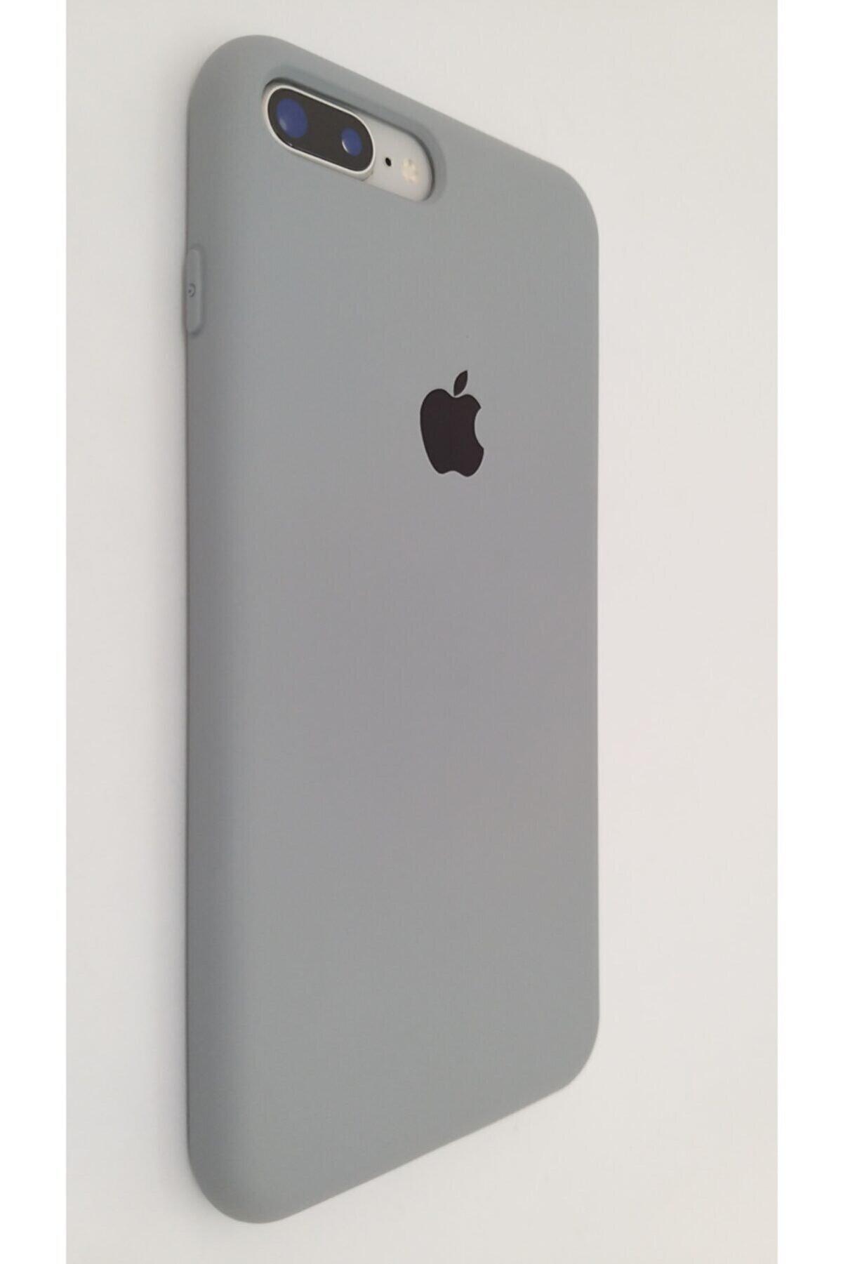 Broncover Iphone 7 / 8 Plus Gri Lansman Içi Kadife Logolu Silikon Kılıf