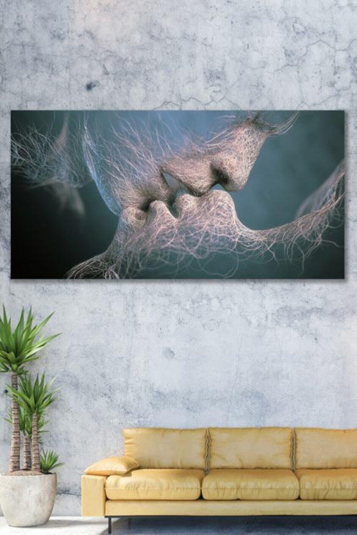 ECELUXE Sürreal Duvar Kanvas Tablo 60x120