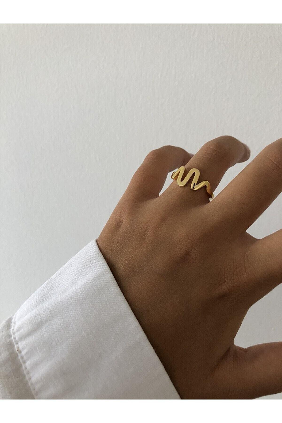 The Y Jewelry Altın Kaplama Yüzük