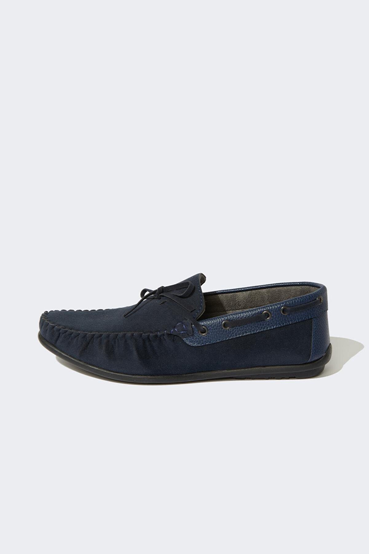 Defacto Süet Bağcık Detaylı Loafer Ayakkabı