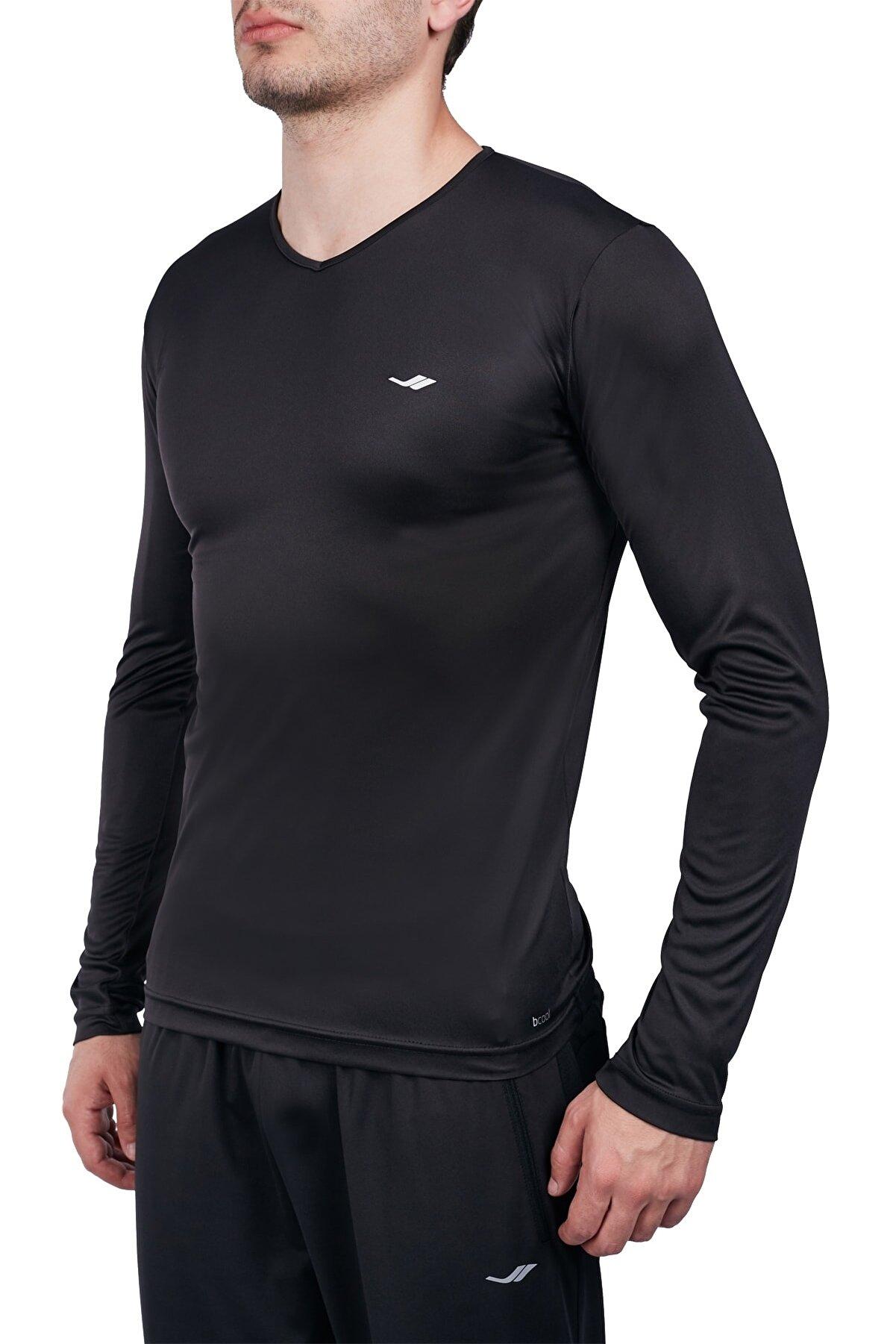 Lescon Siyah Erkek Uzun Kol T-shirt 20s-1223