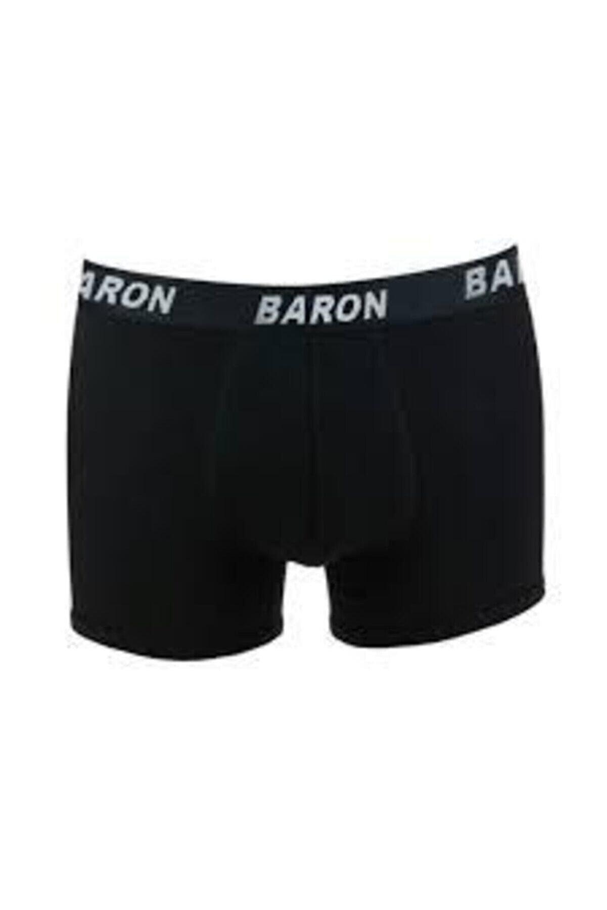Zümra Baron Boxer Erkek Siyah Elestan Likralı Penye Boxer Siyah 1'li Paket