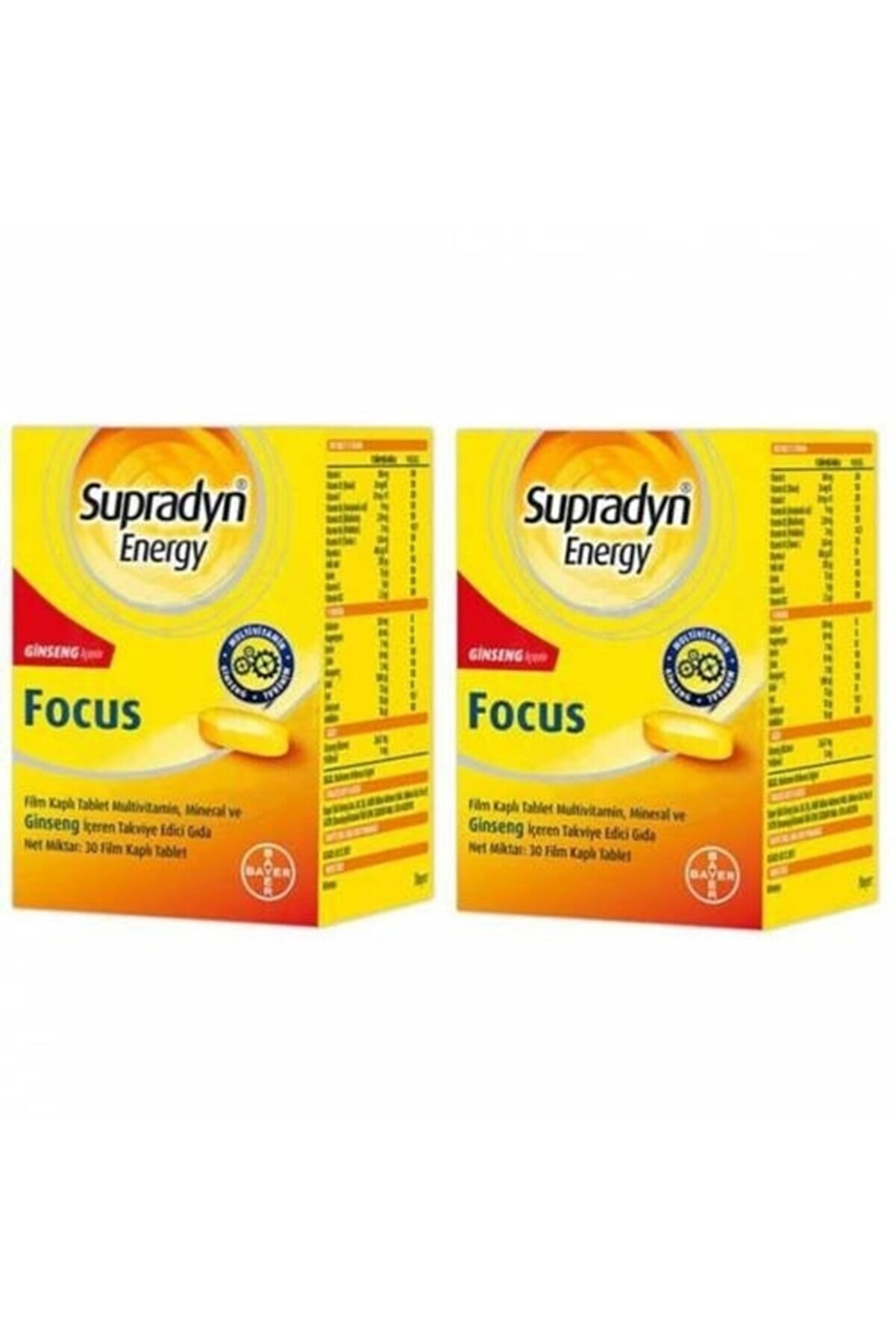 Supradyn Energy Focus 30 Tablet 2 Kutu