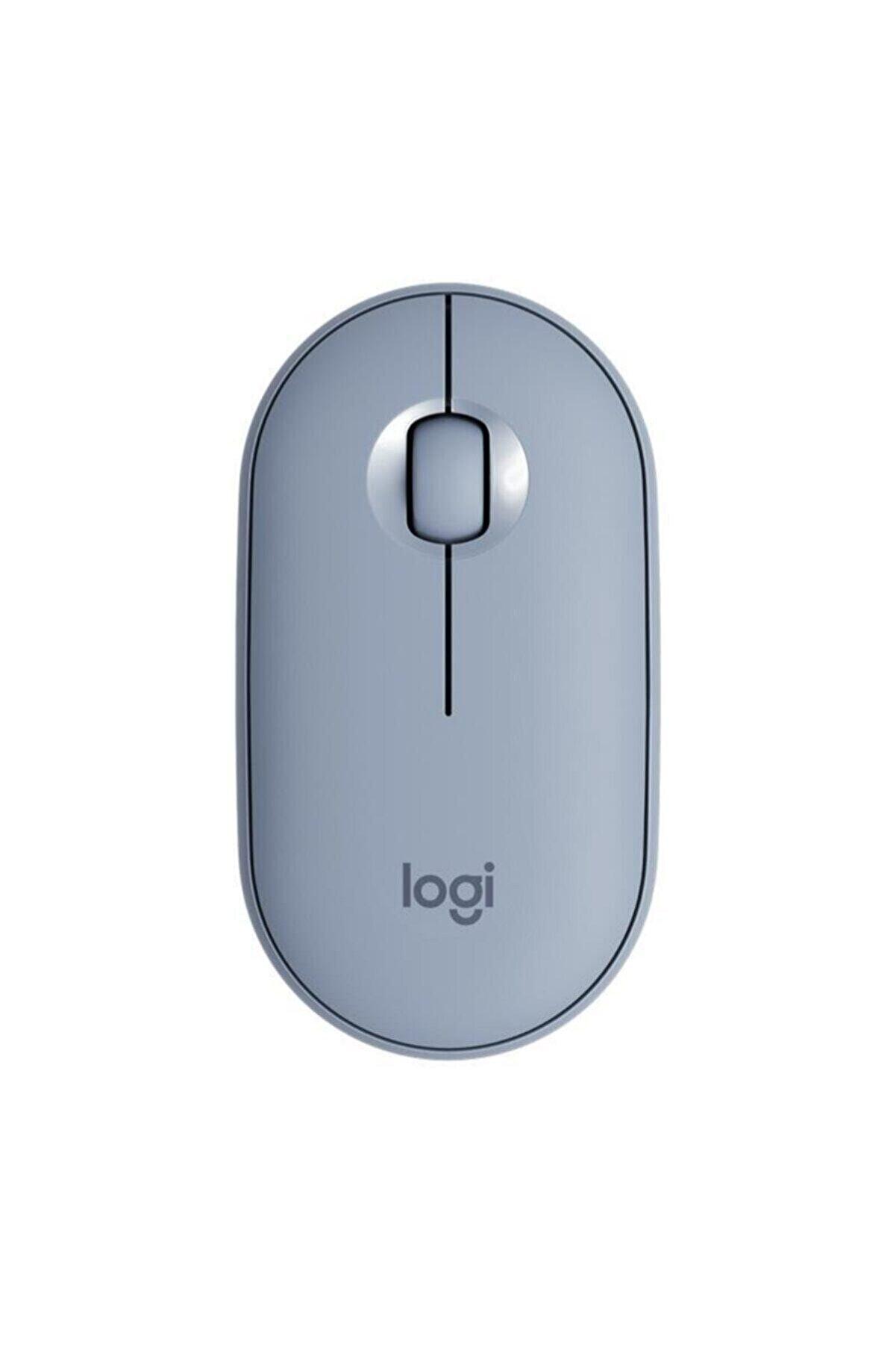 logitech Pebble M350 Mavi Gri Mouse 910-005719
