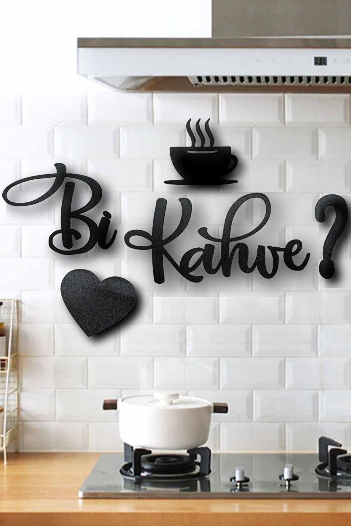 VegaDesign Bi Kahve Ahşap Mutfak Görseli 5 Parça