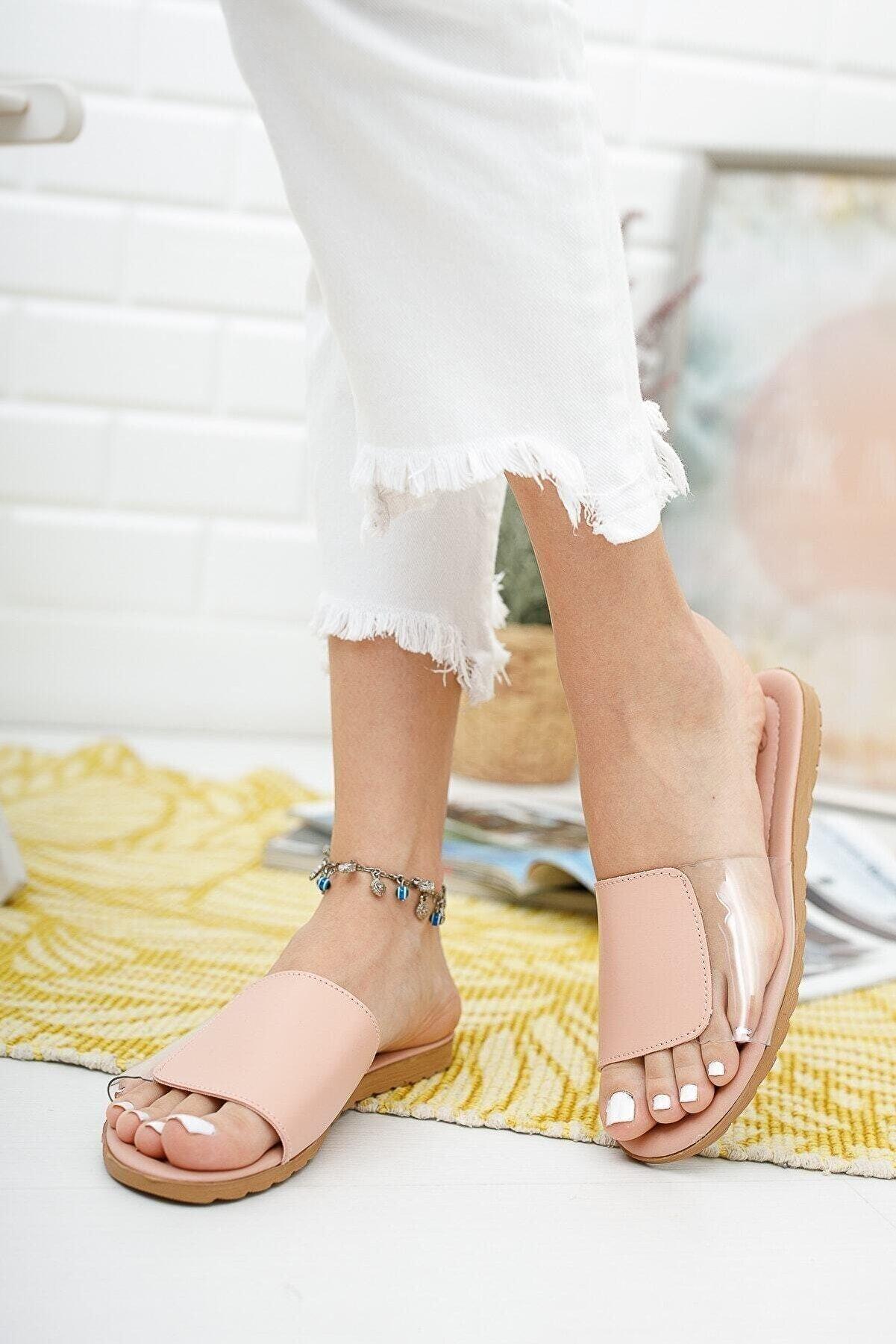 Ekol Ayakkabi Kadın Yanı Seffaf Terlik