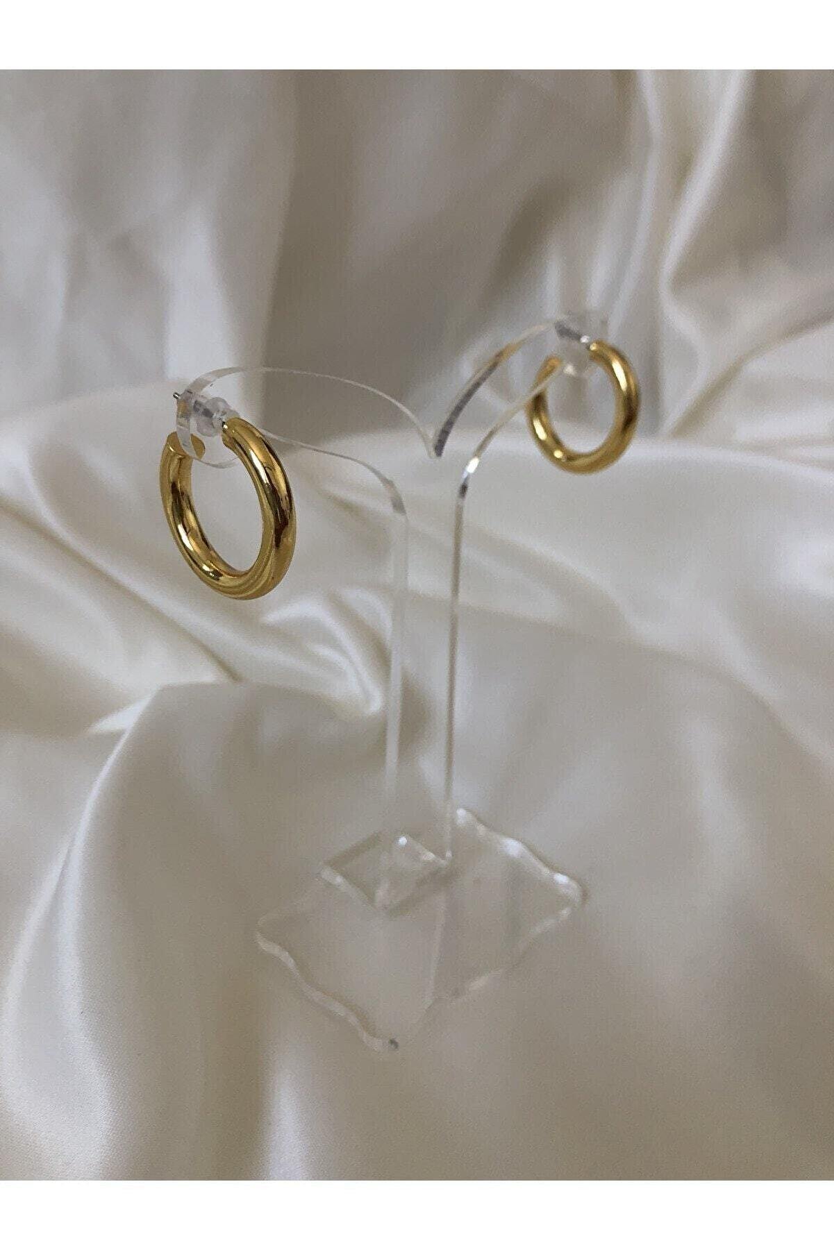 The Y Jewelry Kadın Altın Halka Küpe
