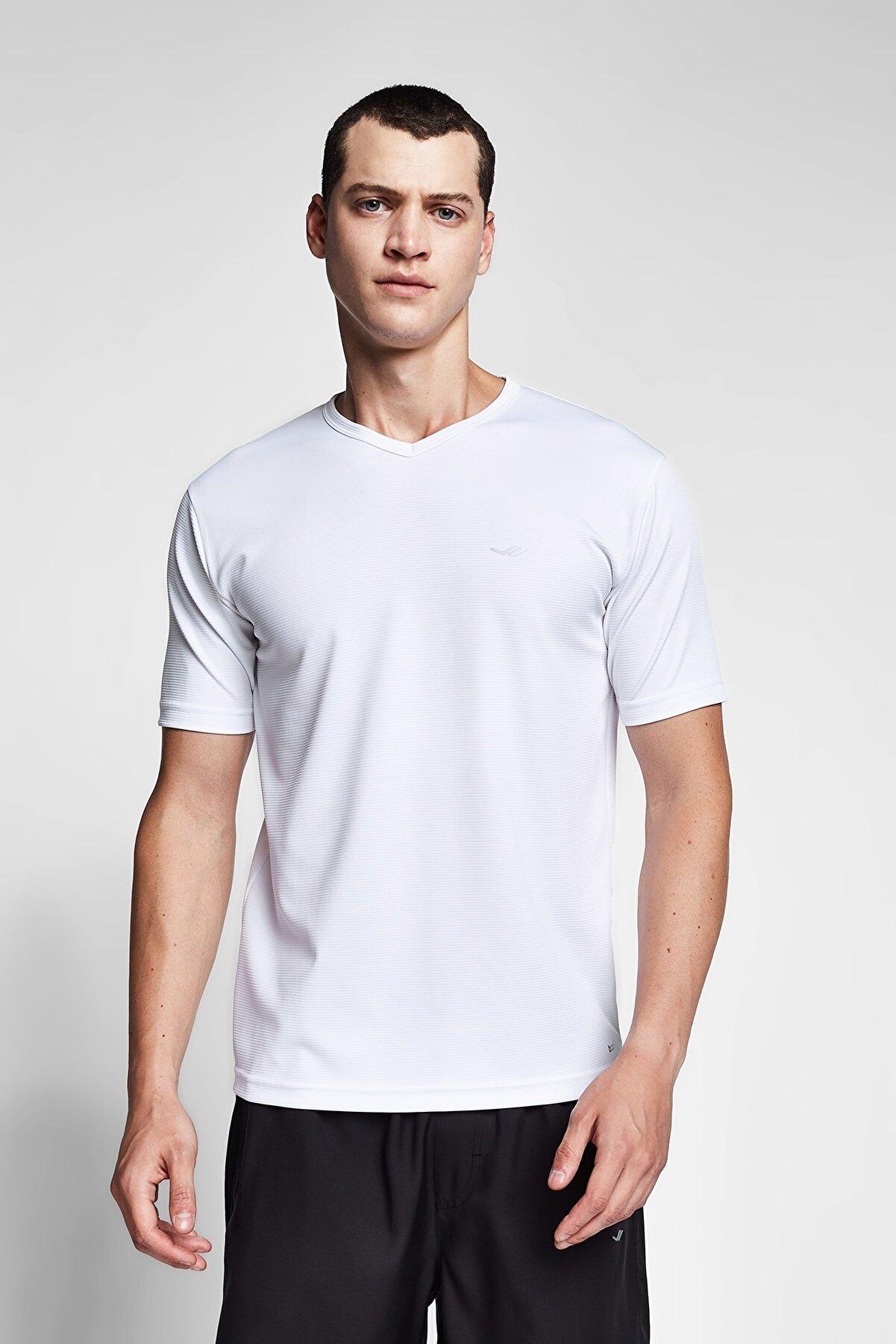 Lescon Beyaz Erkek T-shirt 20s-1231-20n