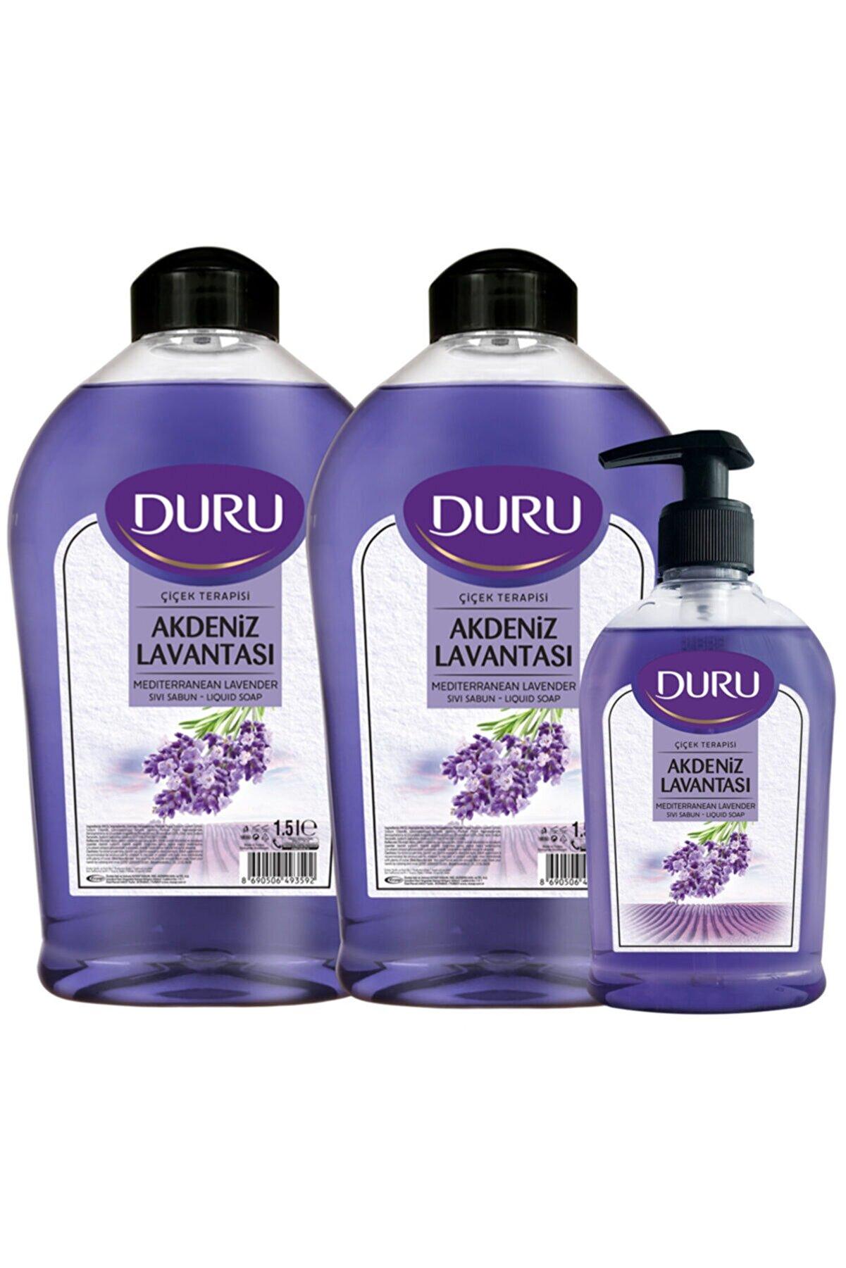 Duru Akdeniz Lavantası Sıvı Sabun 1,5+1,5+300ml