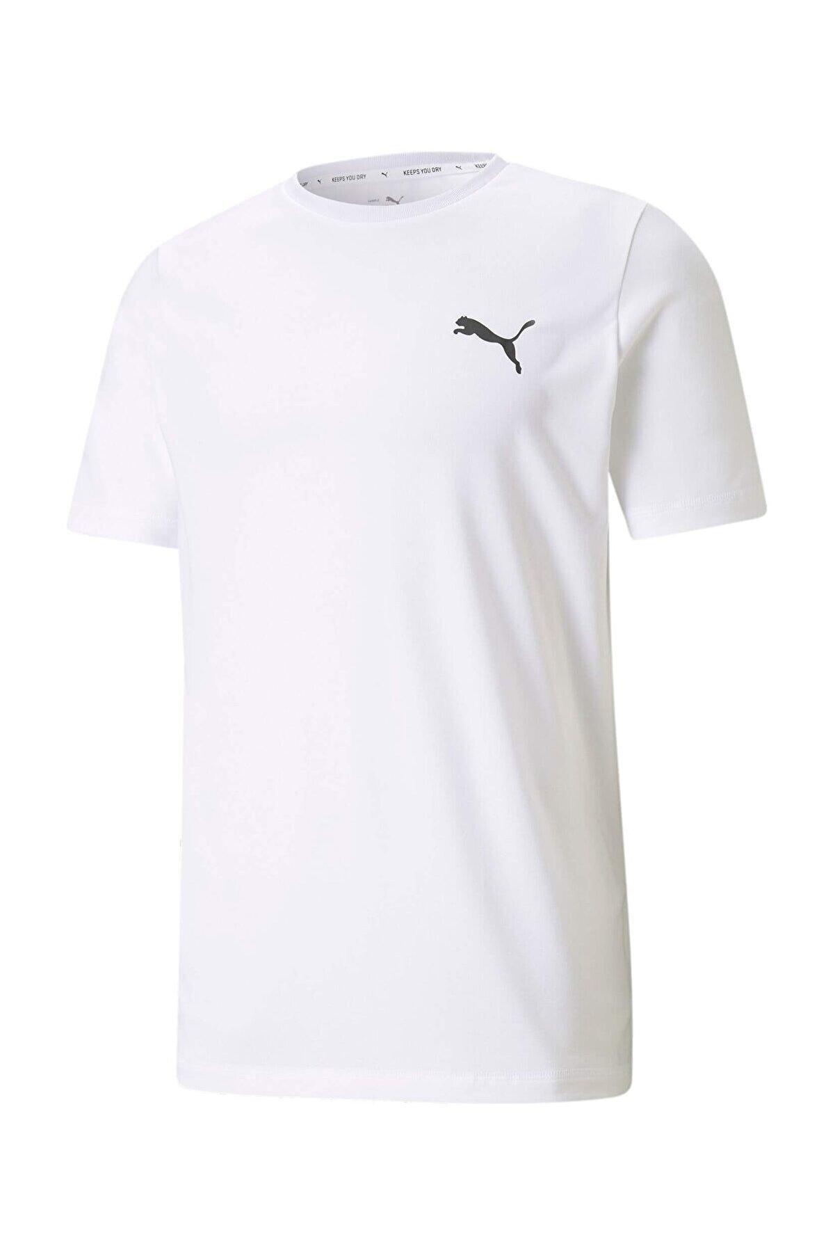 Puma ACTIVE SMALL LOGO TEE Beyaz Erkek T-Shirt 101085577