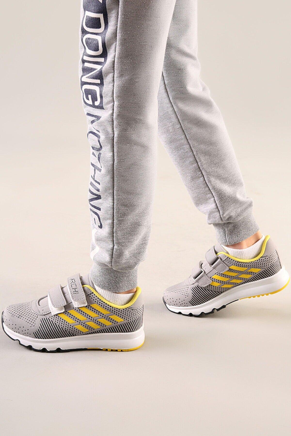 AYN-Shoes Çocuk Buz-sarı Günlük Anatomik Taban Spor Ayakkabı
