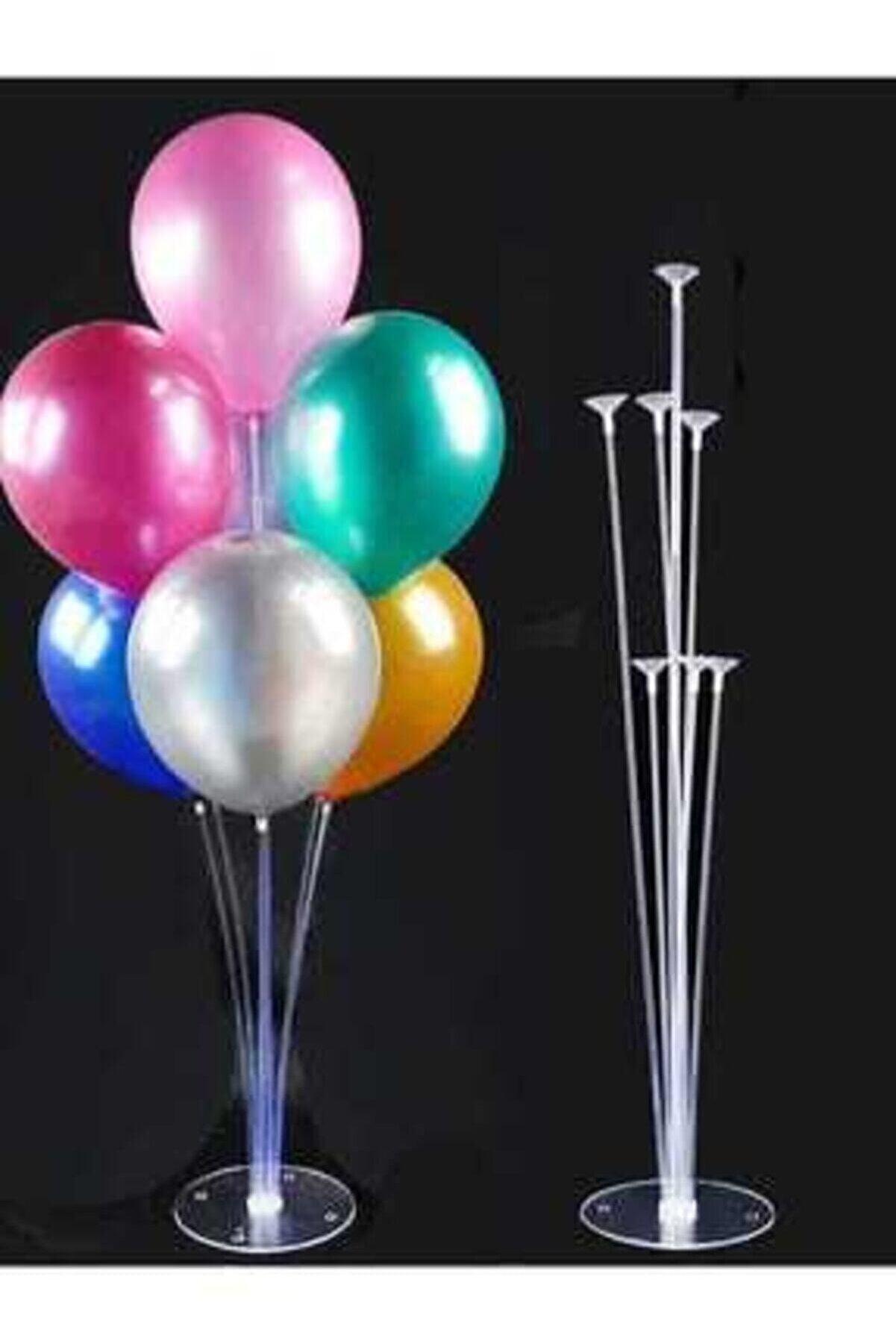 Renkli Parti Balon Süsleme Standı 7 Çubuklu Set